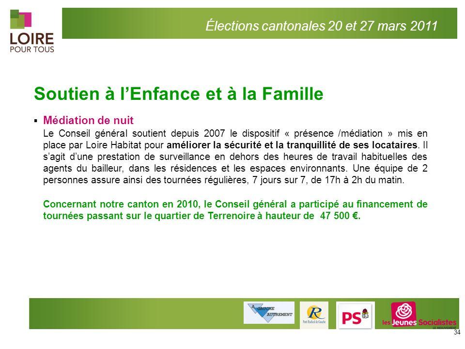 Soutien à lEnfance et à la Famille Médiation de nuit Le Conseil général soutient depuis 2007 le dispositif « présence /médiation » mis en place par Lo