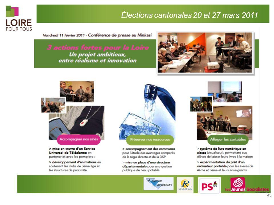 Élections cantonales 20 et 27 mars 2011 49