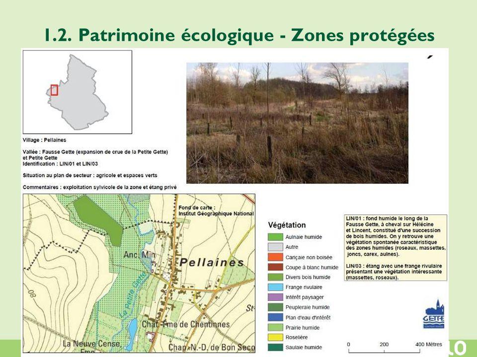 1.2. Patrimoine écologique - Zones protégées