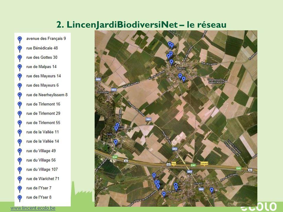 2. LincenJardiBiodiversiNet – le réseau www.lincent.ecolo.be