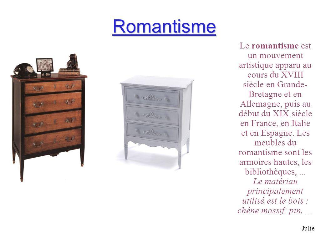 Romantisme Le romantisme est un mouvement artistique apparu au cours du XVIII siècle en Grande- Bretagne et en Allemagne, puis au début du XIX siècle