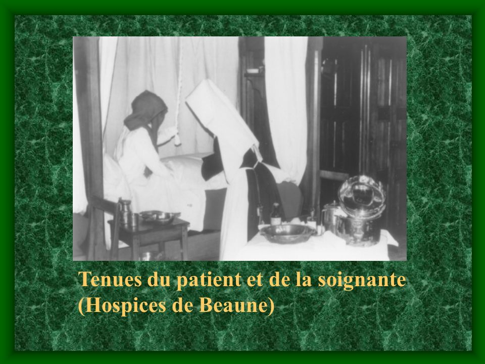 Tenues du patient et de la soignante (Hospices de Beaune)