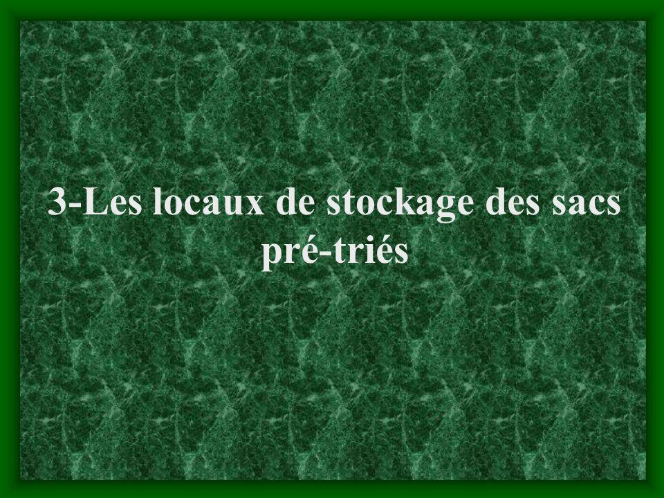 3-Les locaux de stockage des sacs pré-triés