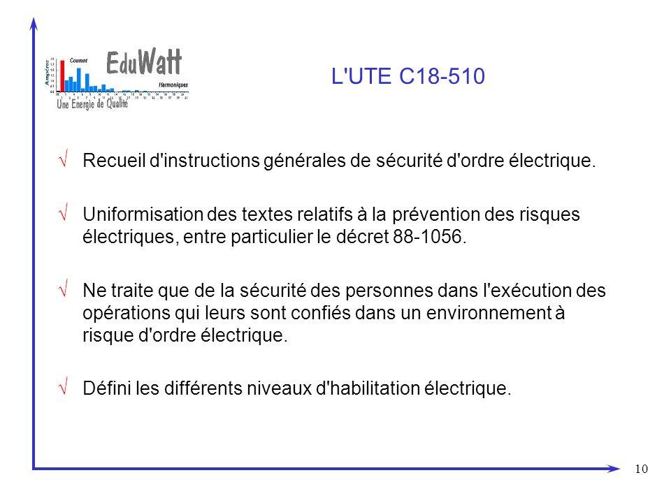 10 L UTE C18-510 Recueil d instructions générales de sécurité d ordre électrique.