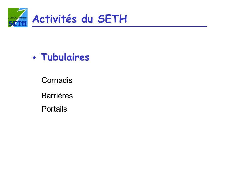 w Tubulaires Cornadis Barrières Portails Activités du SETH