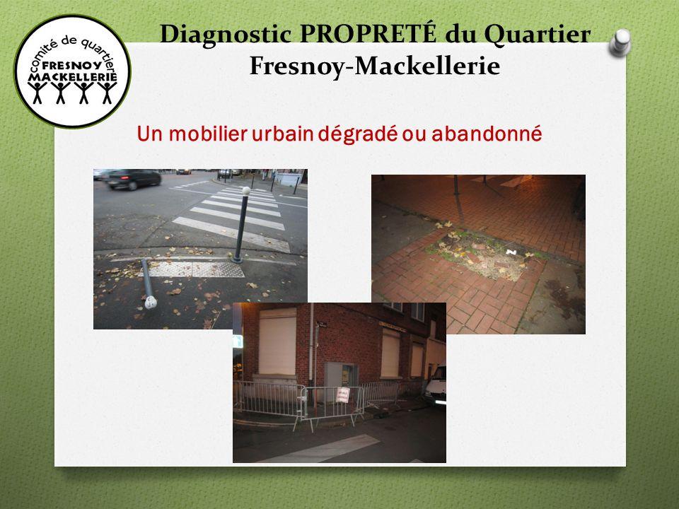 Diagnostic PROPRETÉ du Quartier Fresnoy-Mackellerie Un mobilier urbain dégradé ou abandonné