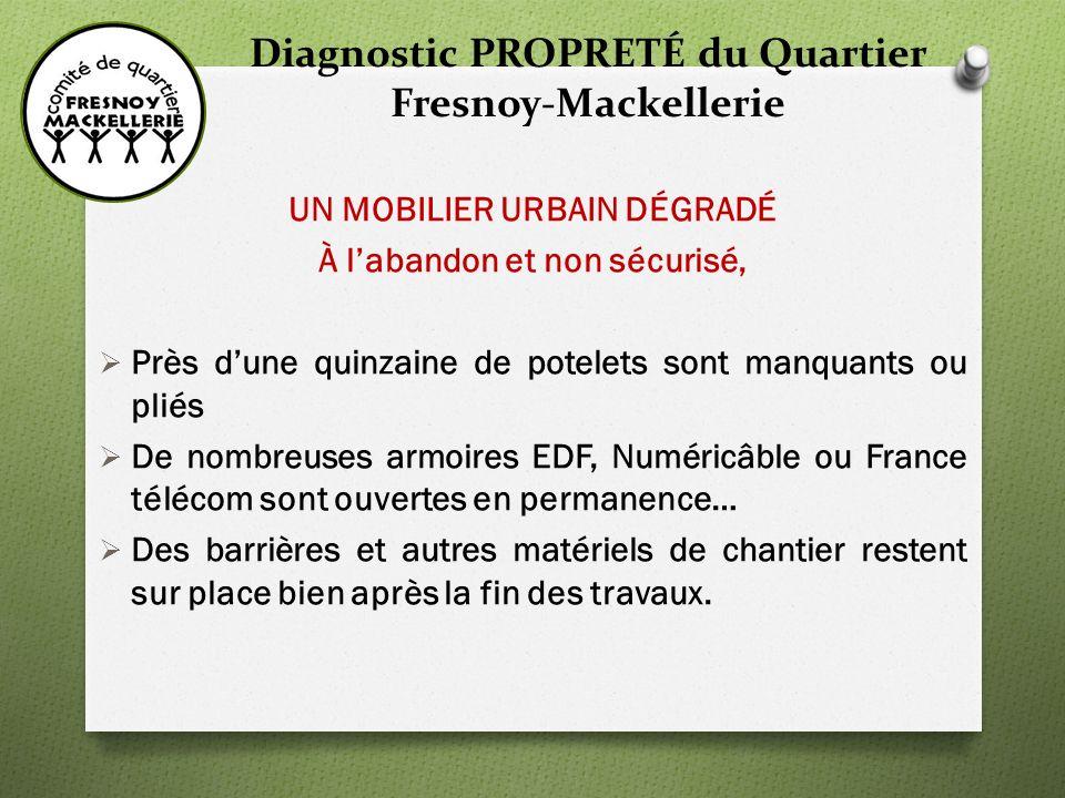 Diagnostic PROPRETÉ du Quartier Fresnoy-Mackellerie 3 - PRÉSENTATION DE VIVACITÉS VivaCités est un Centre dappel dédié aux atteintes au cadre de vie.