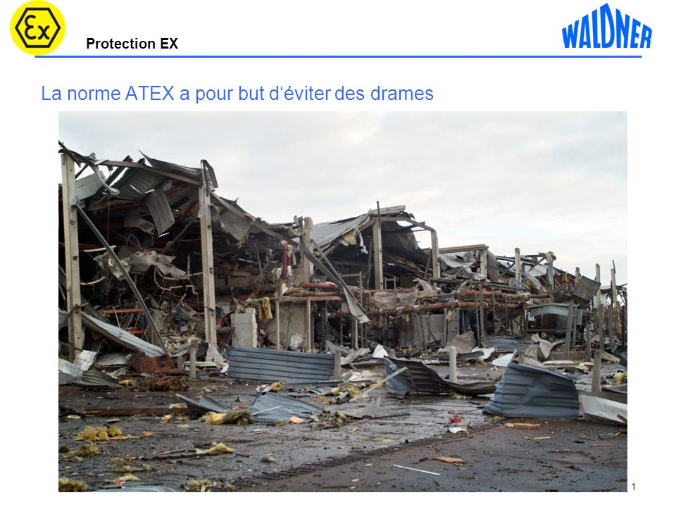 Protection EX 1 La norme ATEX a pour but déviter des drames