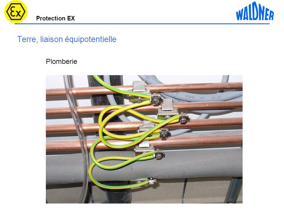 Protection EX Terre, liaison équipotentielle Plomberie