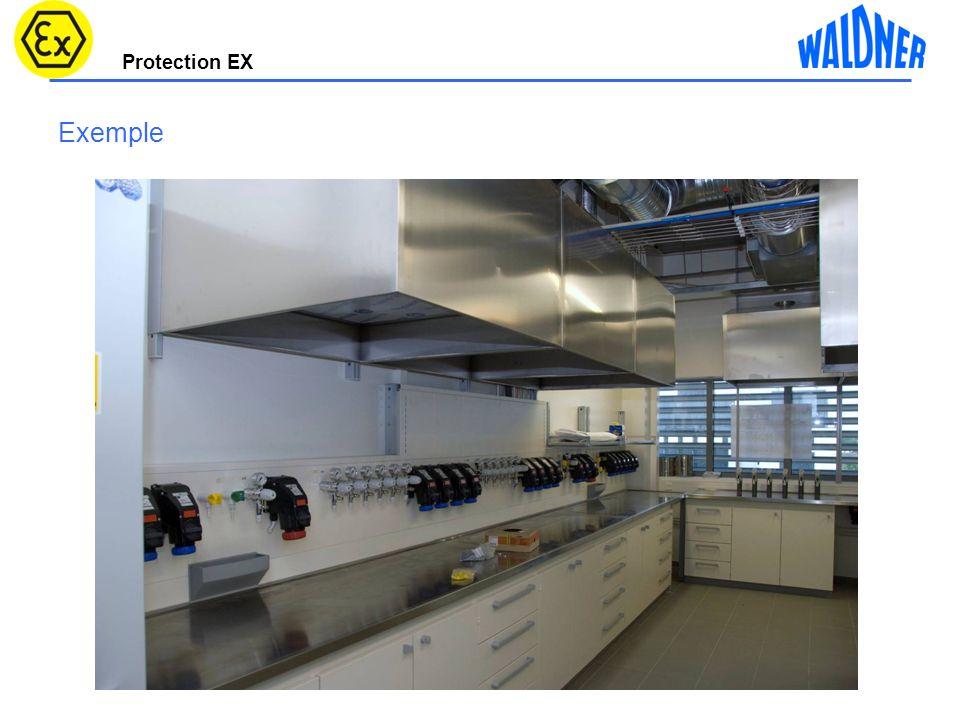 Protection EX 17 Caisson dextraction sorbonne accéssible 2100mm Vitesses de circulation Vers aspiration partie basse 630m³/h 3,8m/s 1260³m/h 5m/s 50m³/h 11m/s Materiau PP conductiblité électrostatique <10 9 Volet de com.