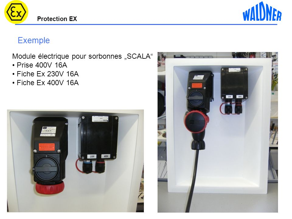 Protection EX 30 Points de mise à la terre 7 points pour plan de travail 5 points pour les cotés Douilles pour statifs 7 points pour lélectronique du contrôleur de débit 6 points pour le fond 7 points pour la partie supp.