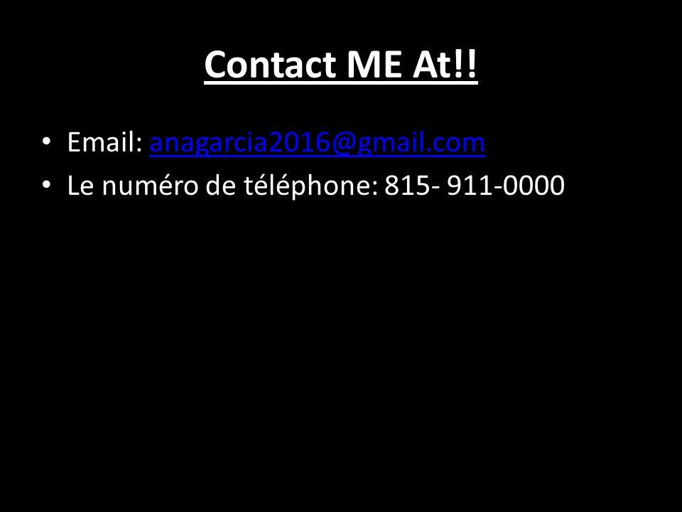 Contact ME At!! Email: anagarcia2016@gmail.comanagarcia2016@gmail.com Le numéro de téléphone: 815- 911-0000