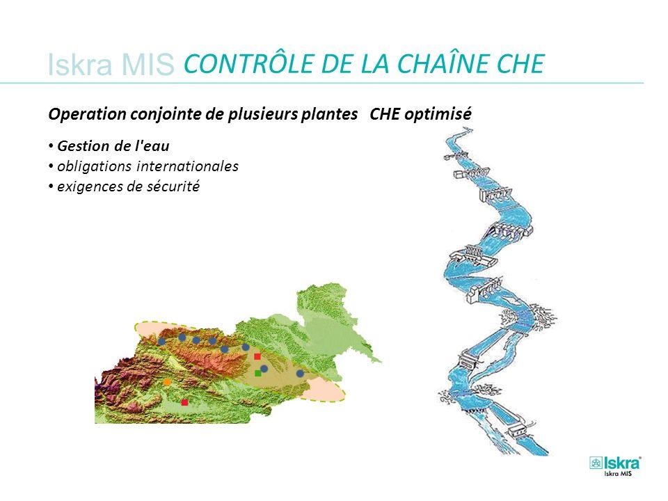 Iskra MIS CONTRÔLE DE LA CHAÎNE CHE Operation conjointe de plusieurs plantes CHE optimisé.