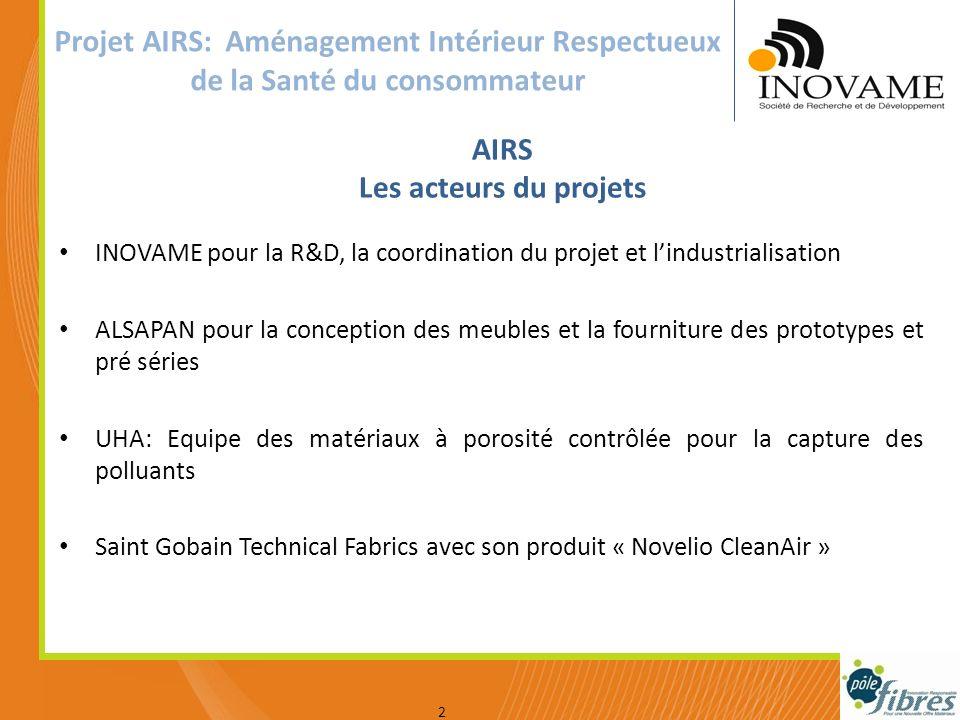 Votre logo INOVAME pour la R&D, la coordination du projet et lindustrialisation ALSAPAN pour la conception des meubles et la fourniture des prototypes