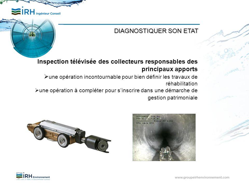 Inspection télévisée des collecteurs responsables des principaux apports une opération incontournable pour bien définir les travaux de réhabilitation