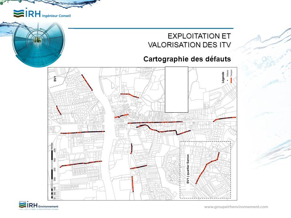 EXPLOITATION ET VALORISATION DES ITV Cartographie des défauts