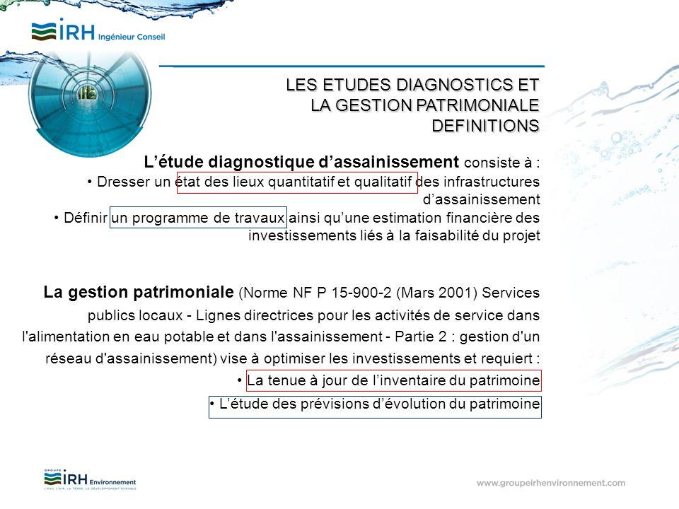 La gestion patrimoniale (Norme NF P 15-900-2 (Mars 2001) Services publics locaux - Lignes directrices pour les activités de service dans l'alimentatio