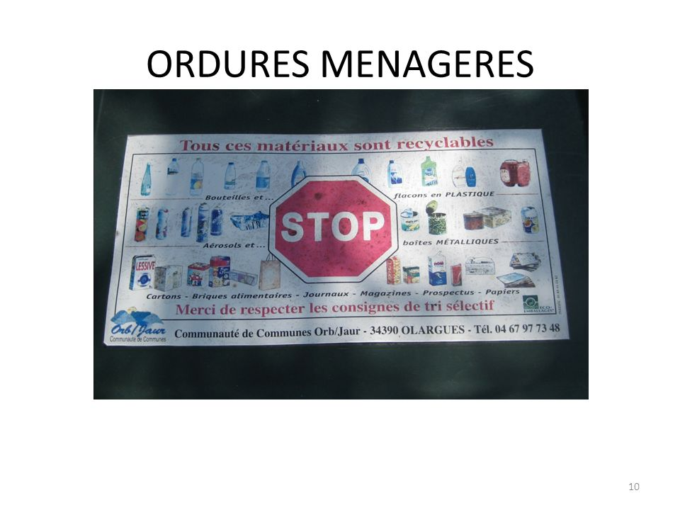 ORDURES MENAGERES 10