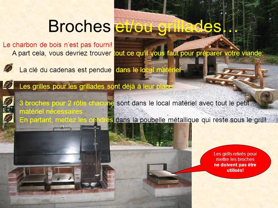Broches et/ou grillades… Le charbon de bois nest pas fourni.