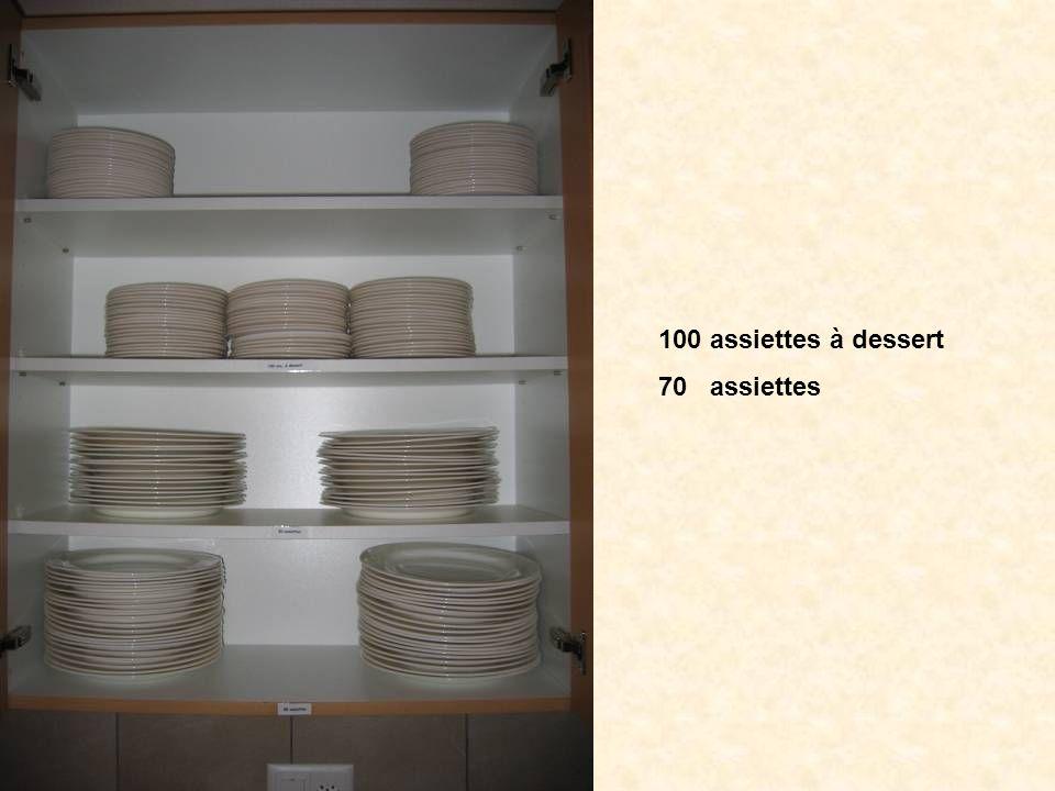 100 assiettes à dessert 70 assiettes