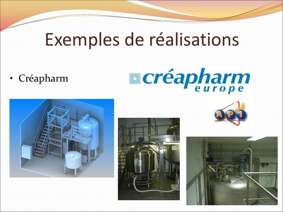 Exemples de réalisations Créapharm