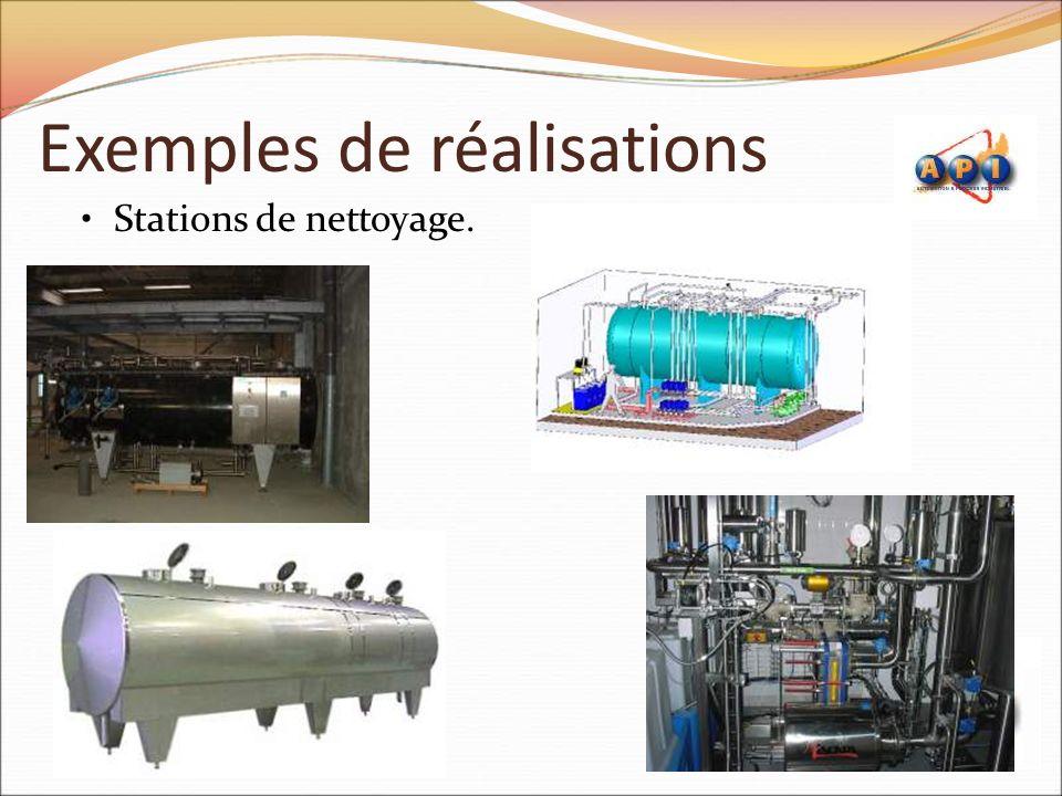 Exemples de réalisations Stations de nettoyage.