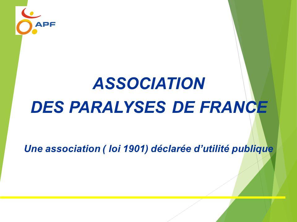 ASSOCIATION DES PARALYSES DE FRANCE Une association ( loi 1901) déclarée dutilité publique
