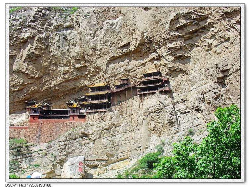 CHÙA HUYN KHÔNG (Xuan Kong Si) Ngôi Chùa Treo monastère bouddhiste suspendu Hình nh ly t Google Earth ĐVGiáp thc hin