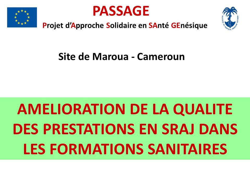 PASSAGE Projet dApproche Solidaire en SAnté GEnésique Site de Maroua - Cameroun AMELIORATION DE LA QUALITE DES PRESTATIONS EN SRAJ DANS LES FORMATIONS