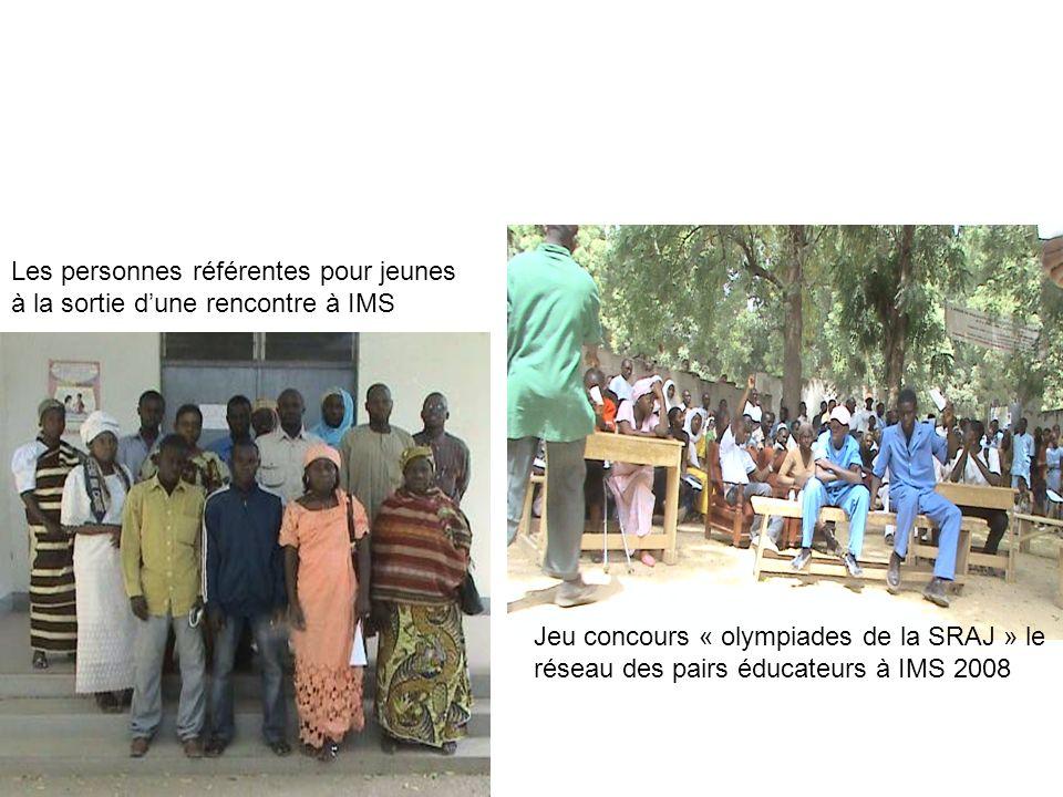 Les personnes référentes pour jeunes à la sortie dune rencontre à IMS Jeu concours « olympiades de la SRAJ » le réseau des pairs éducateurs à IMS 2008