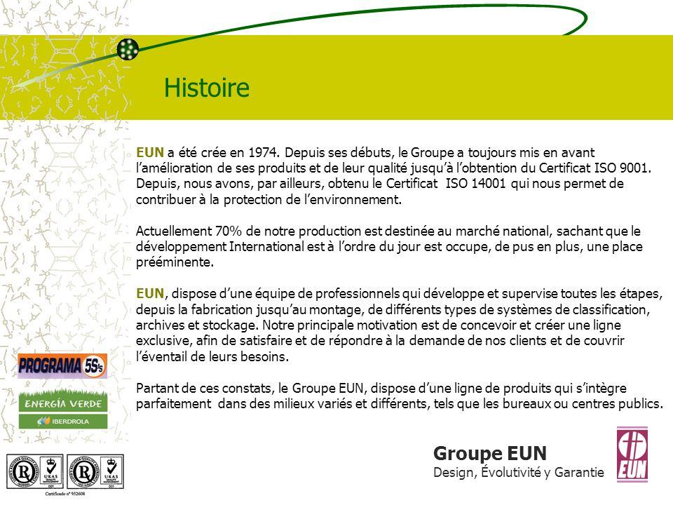 Groupe EUN Design, Évolutivité y Garantie Histoire EUN a été crée en 1974.