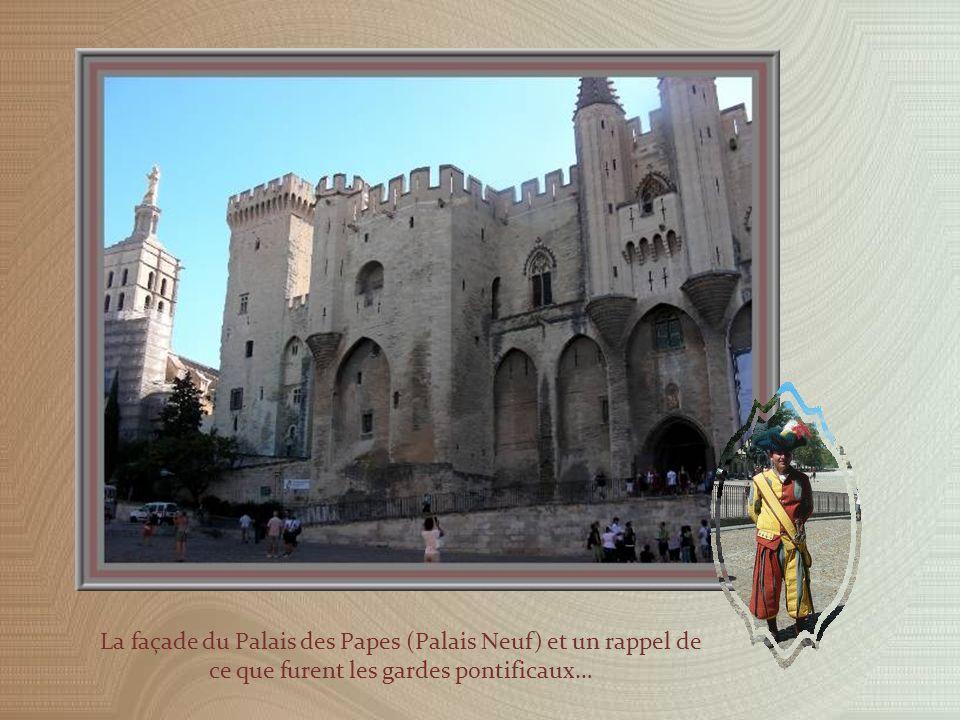 Le Palais des Papes est formé de deux constructions différentes : le Palais Vieux construit par Benoît XII dès 1334 et le Palais Neuf ajouté en 1342 sous la férule de Clément VI.