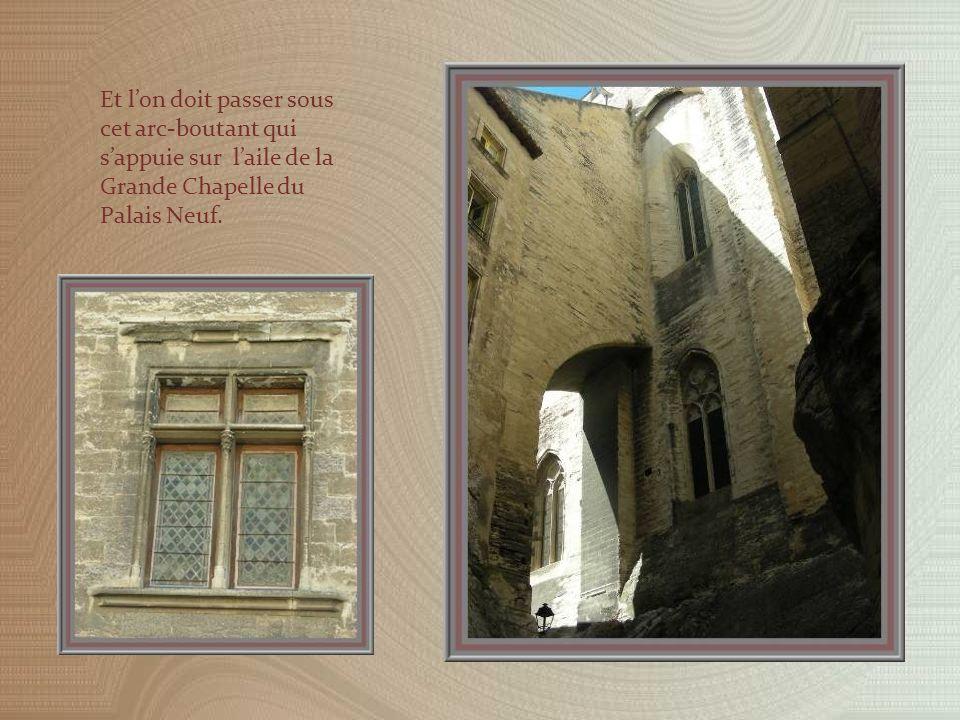 La sortie se faisant par larrière du Palais, elle permet de voir les constructions de demeures anciennes qui escaladaient le rocher.