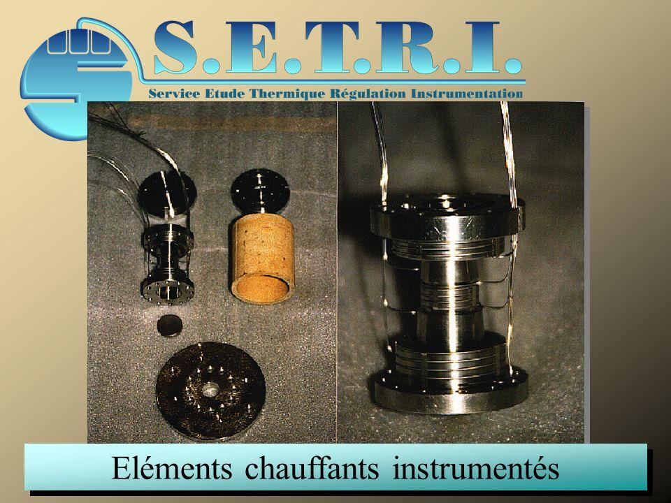 Eléments chauffants instrumentés