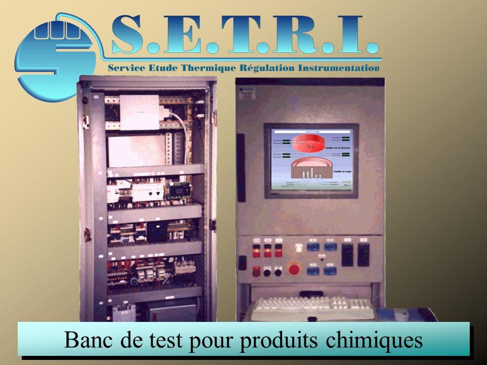 Banc de test pour produits chimiques