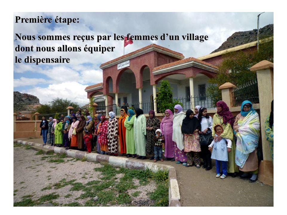 Après la cérémonie, tout ce matériel a été chargé sur des camionnettes pour être acheminé dans les villages La joie était sur tous les visages…