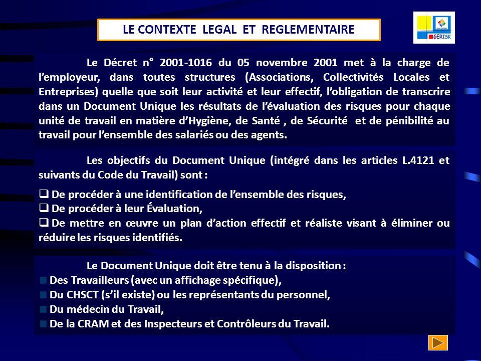 DOCUMENT UNIQUE LES OBLIGATIONS ET LES ENJEUX DE LEMPLOYEUR