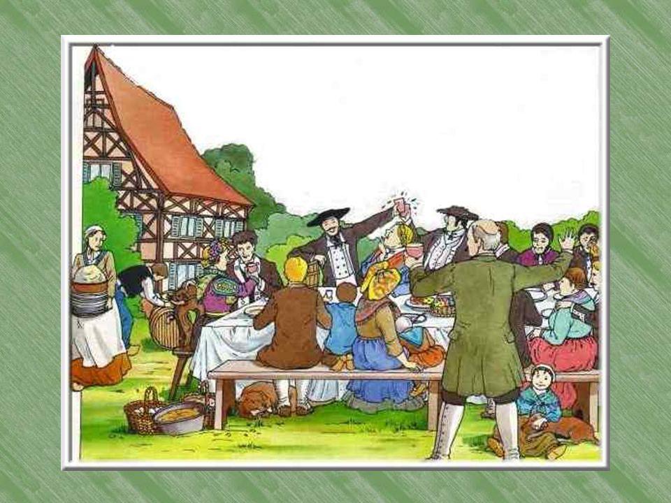 La joyeuse noce Un jeune paysan et une jeune paysanne se marient. Toute la noce a été préparée selon la tradition. Le fiancé est allé faire ses invita