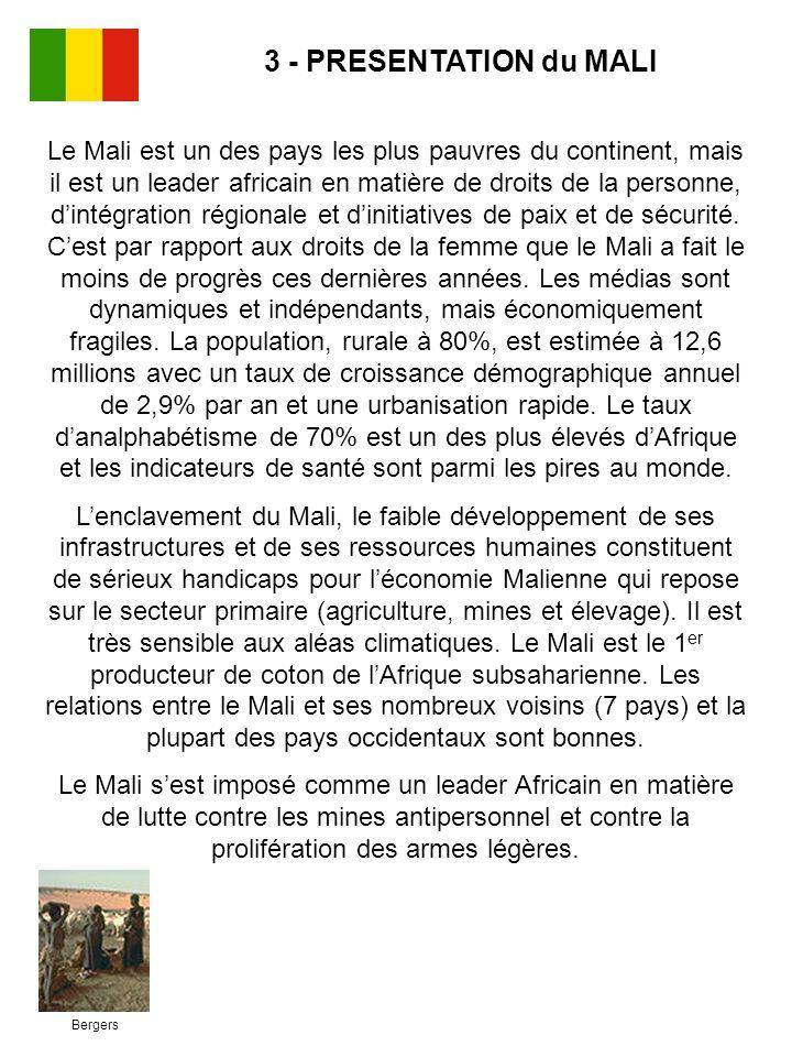 Bergers Le Mali est un des pays les plus pauvres du continent, mais il est un leader africain en matière de droits de la personne, dintégration région