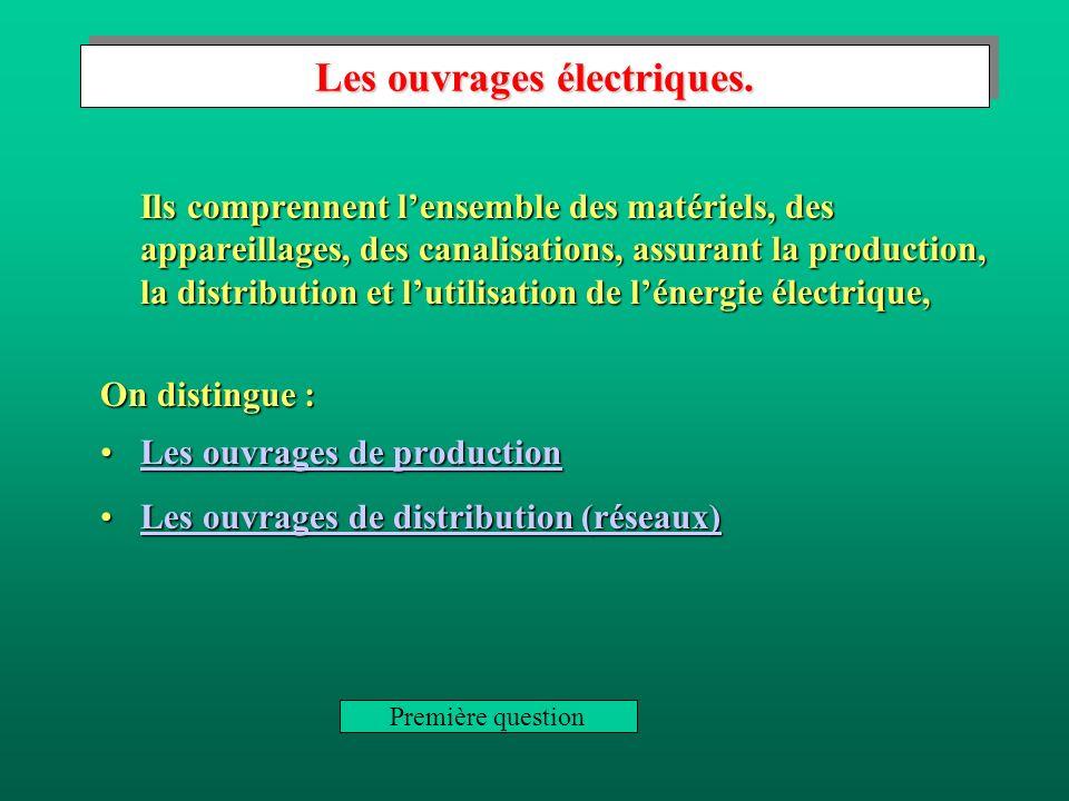 Les ouvrages électriques.