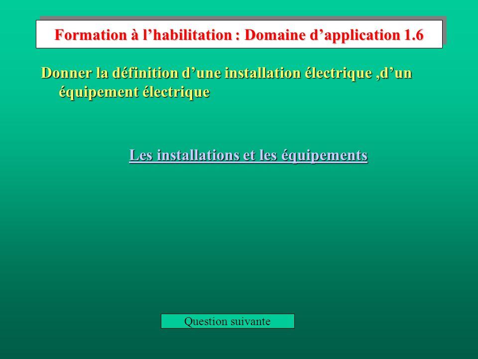 Les équipements Canalisations et appareillages (y compris les circuits de commande et de protection) des moteurs et autres appareils utilisant l énergie électrique.