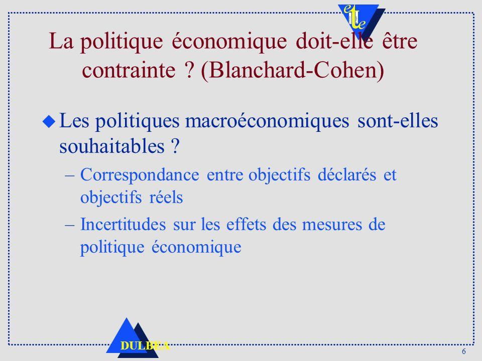 6 DULBEA La politique économique doit-elle être contrainte .