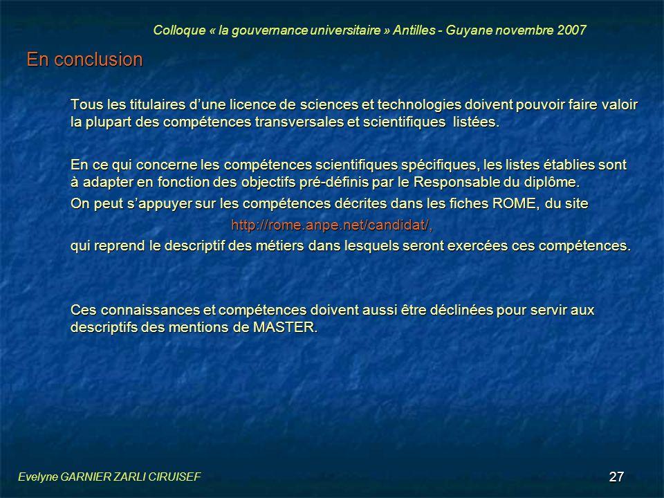 27 En conclusion Tous les titulaires dune licence de sciences et technologies doivent pouvoir faire valoir la plupart des compétences transversales et