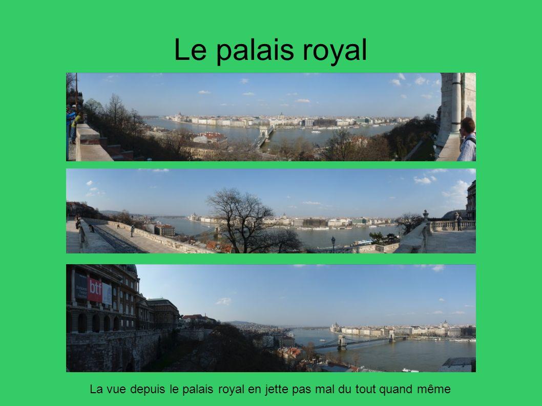 Le palais royal La vue depuis le palais royal en jette pas mal du tout quand même