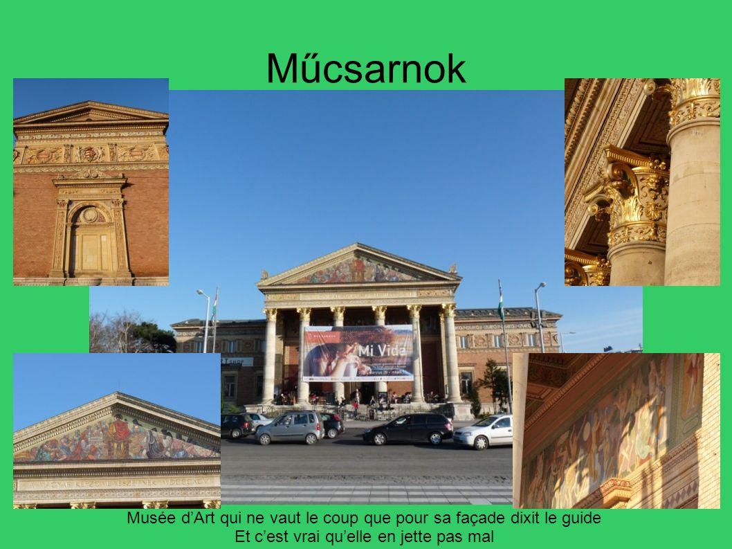 Műcsarnok Musée dArt qui ne vaut le coup que pour sa façade dixit le guide Et cest vrai quelle en jette pas mal