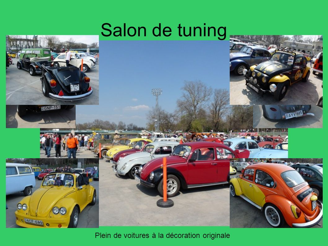Salon de tuning Plein de voitures à la décoration originale