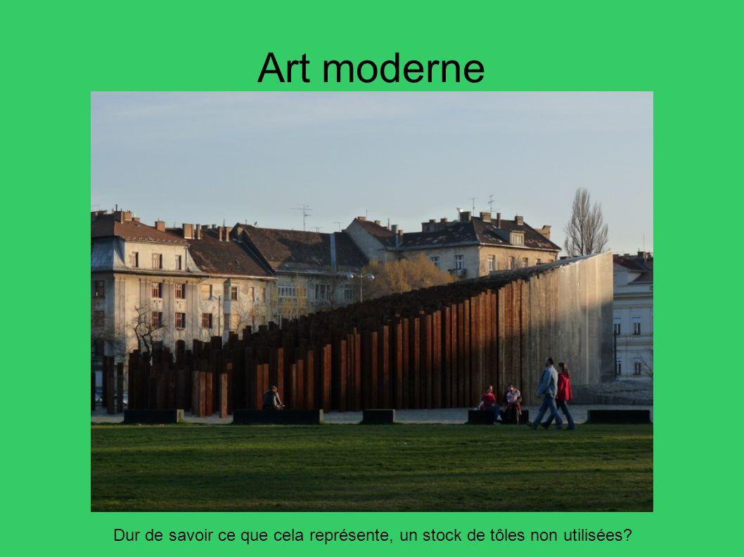 Art moderne Dur de savoir ce que cela représente, un stock de tôles non utilisées?
