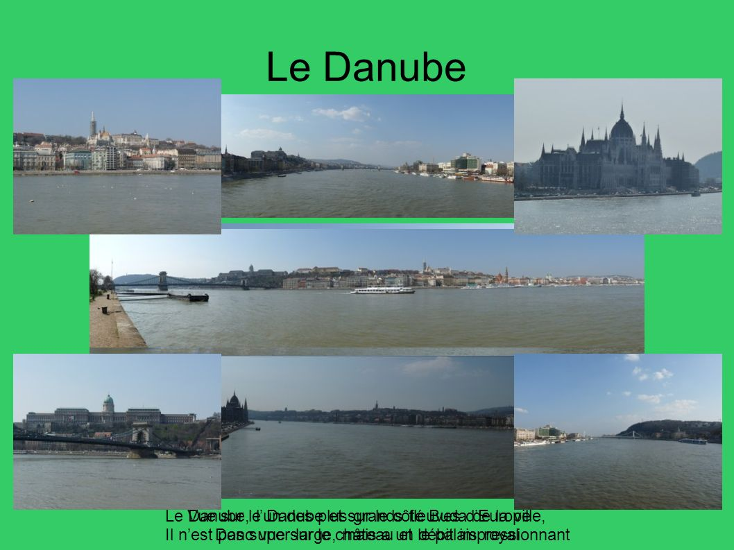 Le Danube Vue sur le Danube et sur le côté Buda de la ville, Donc vue sur le château et le palais royal Le Danube, lun des plus grands fleuves dEurope