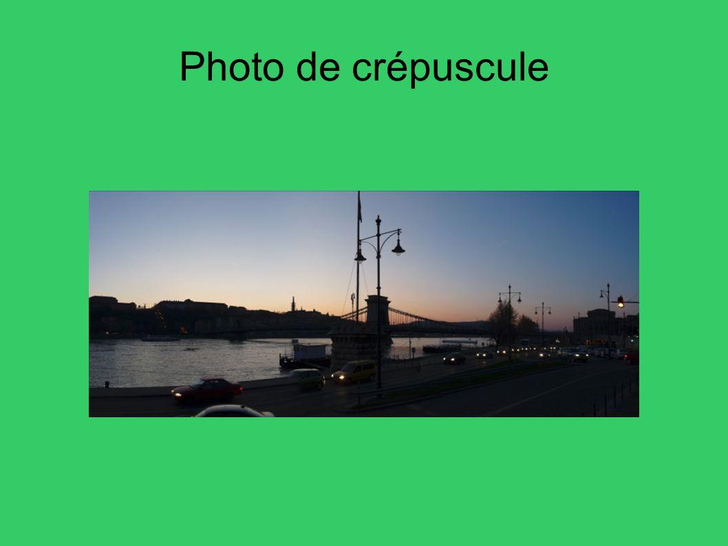 Photo de crépuscule