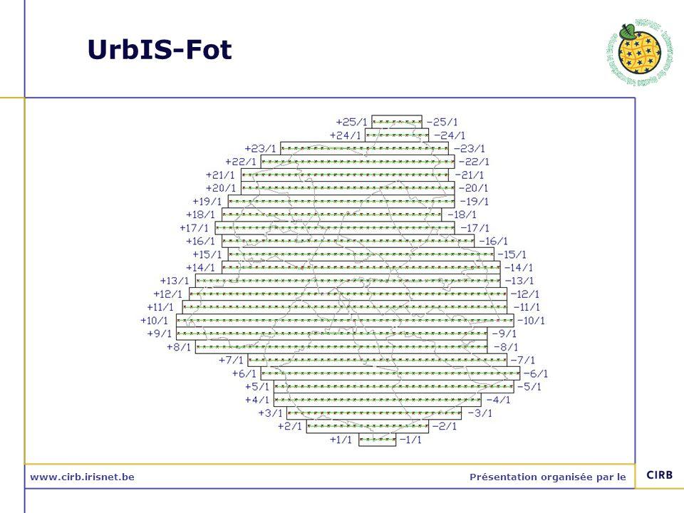 www.cirb.irisnet.bePrésentation organisée par le UrbIS-Fot